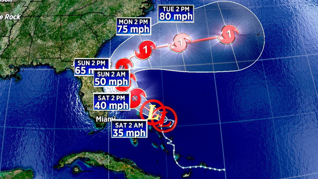 System upgraded to tropical depression, expected to stay offshore