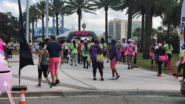 Hundreds walk in Jacksonville to make point about breast cancer