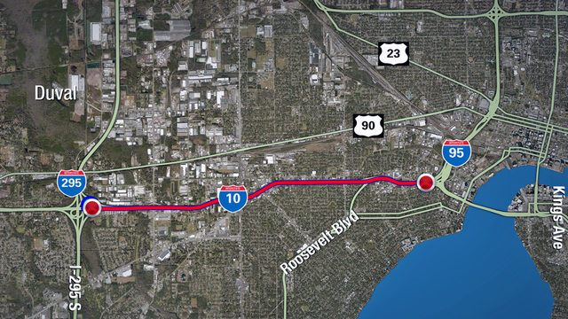 New I-10 project will impact drivers on Jacksonville's Westside