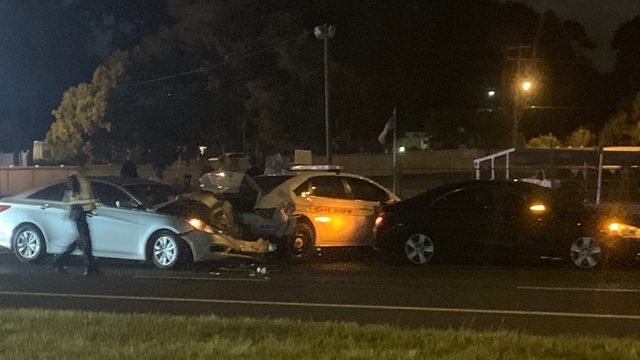 Eastbound lanes now open after 2 officer-involved crashes on Arlington…