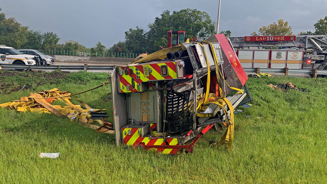 Jacksonville fire captain seriously injured when engine crashes on I-10