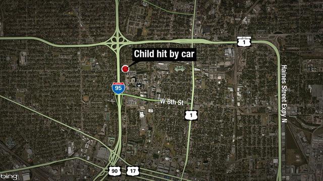 JFRD: Child hit by car, seriously injured near UF Health