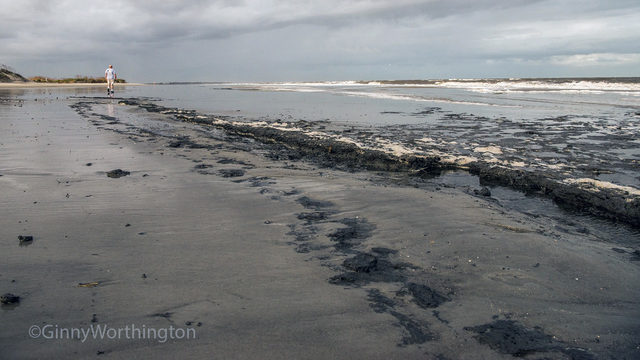 Coast Guard confirms oil from capsized ship on beaches, in marshes