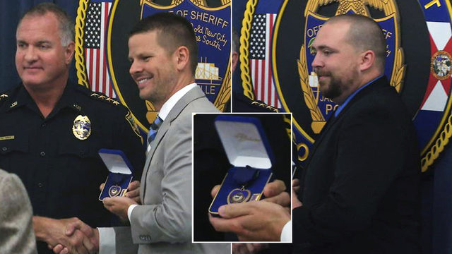 2 officers injured in chase of carjacker awarded Purple Hearts
