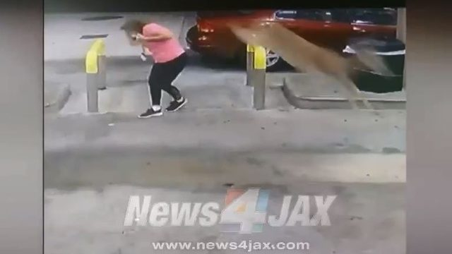 Oh deer! Georgia woman pumping gas kicked in head by deer