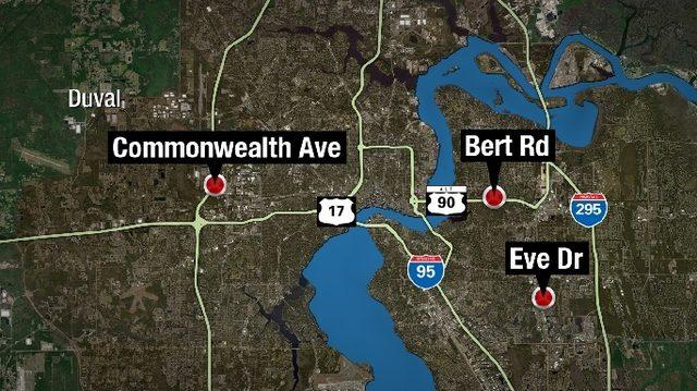 3 fires start across Jacksonville, just hours apart