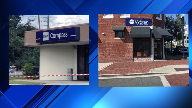 Police respond to 2 bank robberies within 2 hours in Jacksonville