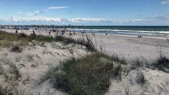 Lifeguards come to the rescue of 2 swimmers in distress