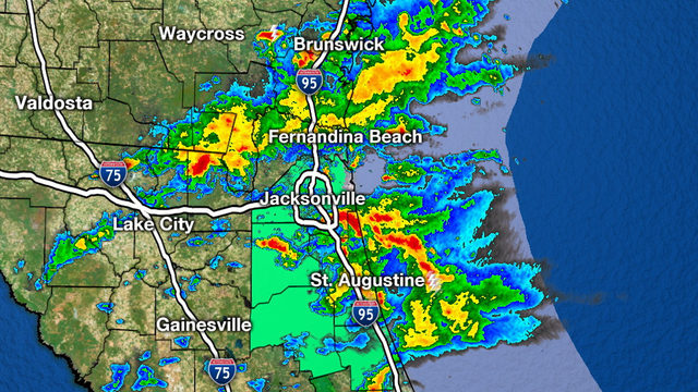 Rounds of heavy rain to move through metro Jacksonville all day