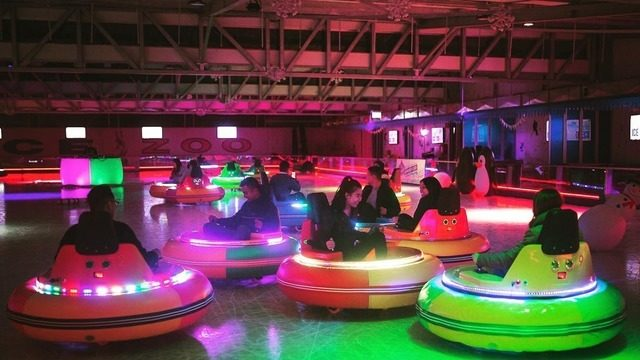 Ice rink with light up bumper cars is coming to Florida