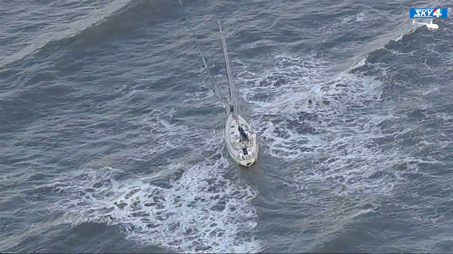 51-foot sailboat freed from Atlantic Beach surf