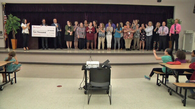 Oceanway Elementary teachers surprised with $10K for supplies
