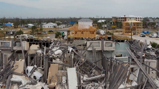 Destruction & rebuilding in the Panhandle one year after Michael