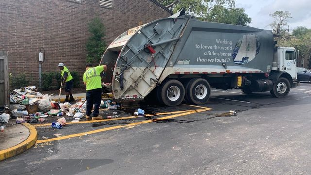 Overflowing dumpsters finally cleaned at Arlington apartment complex