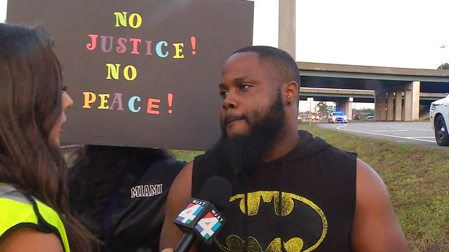 Kingsland group holds peaceful protest over officer's acquittal
