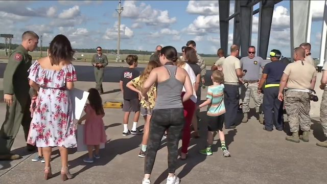 Airmen, fighter jets return home to Jacksonville from deployment