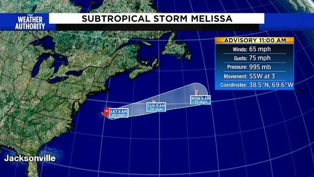 Developing nor'easter is now a subtropical storm