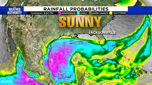 Tropical trouble this weekend?