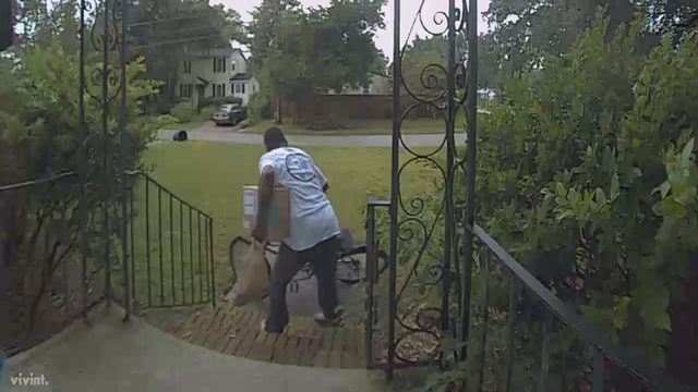 Homeowner says man swiped packages from her porch 3 times
