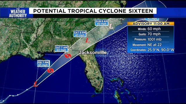 Tropical Storm Warning in effect for Florida Panhandle