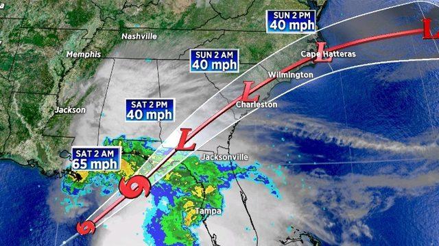 Tropical Storm Nestor sends heavy rains onto Florida Panhandle