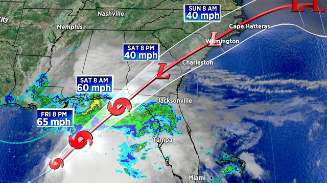 Disturbance in Gulf becomes Tropical Storm Nestor