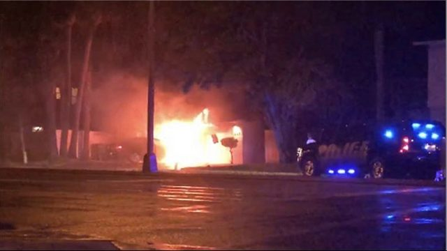 Car catches fire in Neptune Beach