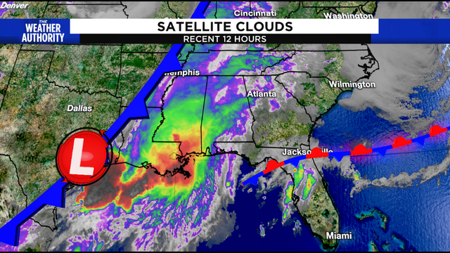 Passing cold front increases our potential for storms
