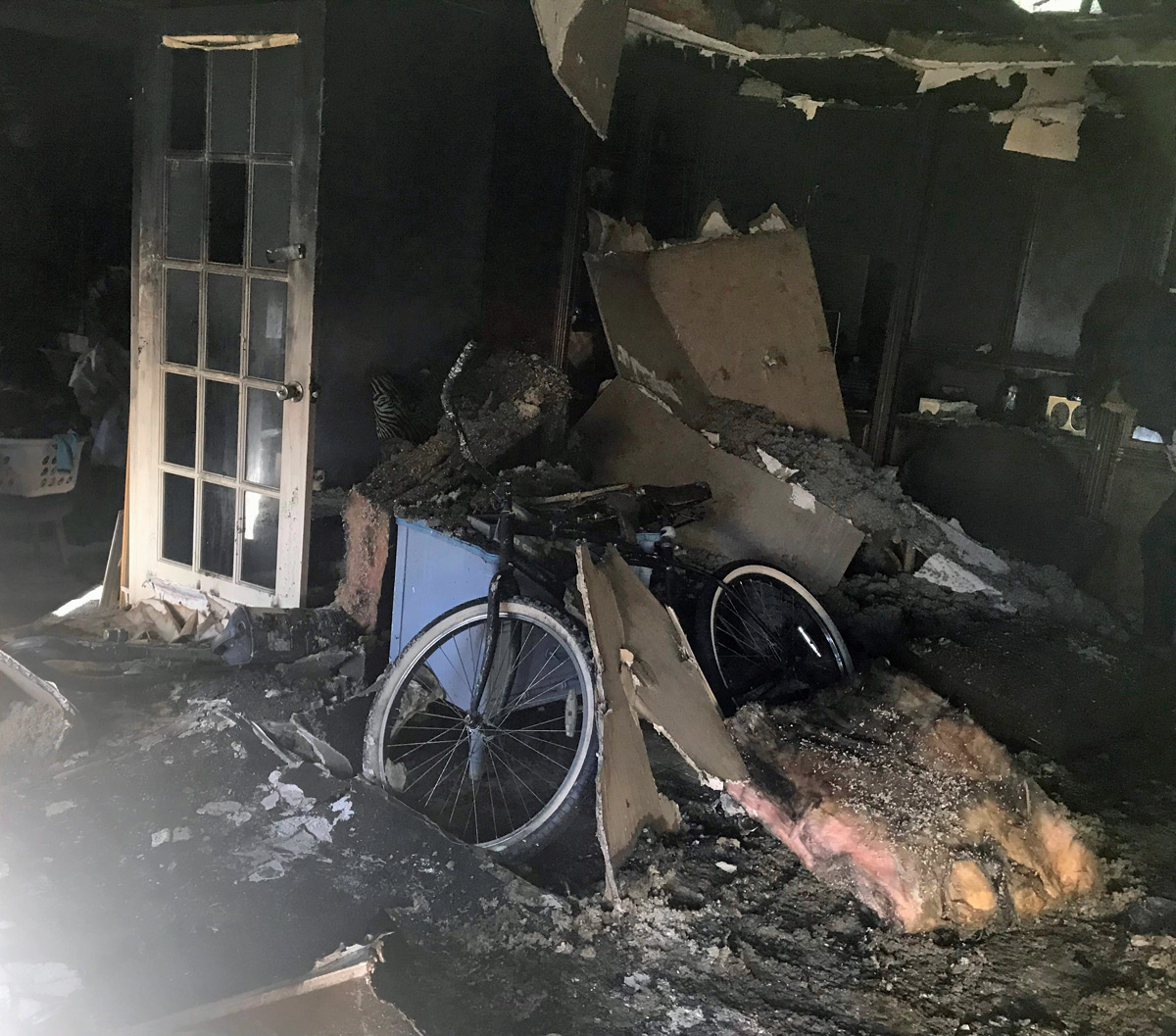 Inside Cypress Landing house fire