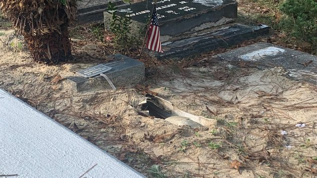 Family says baby's grave desecrated by vandal at Middleburg cemetery