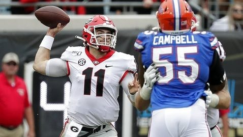Georgia stuffs Florida, takes lead in SEC East