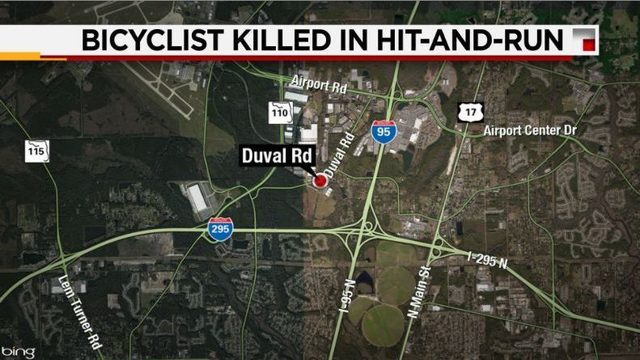 Bicyclist dead after hit-and-run in North Jax parking lot