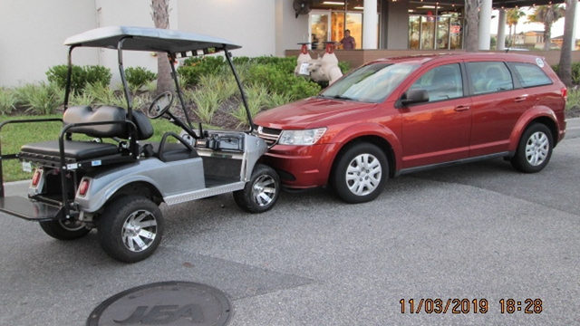 Teen OK after being thrown from golf cart in head-on crash with SUV
