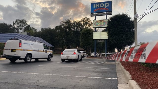 Woman found shot on sidewalk outside Westside IHOP
