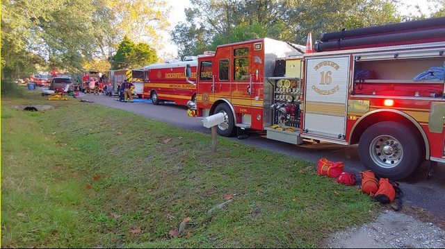 Dog and firefighter injured in mobile home fire near Oceanway