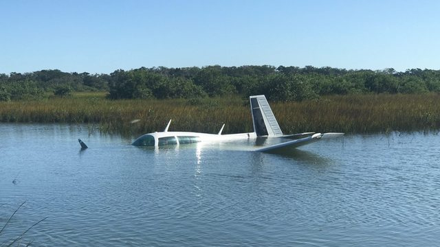 Airplane crashes into marsh near St. Augustine airport