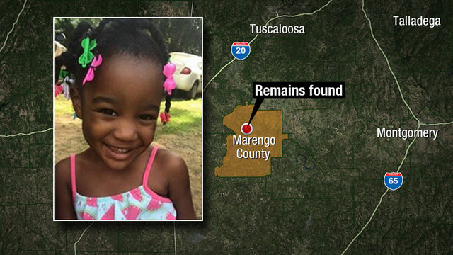 Sheriff: Remains found in Alabama believed to be those of Taylor Rose Williams